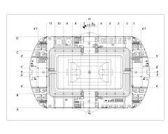 Stadium Design for Multiple Games Layout Plan .dwg