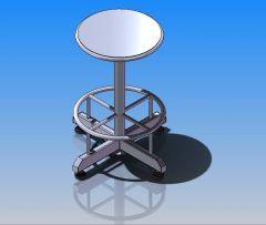 Steel chair sldasm Model
