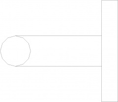 Stainless Steel Lever Doorknob Right Side Elevation dwg Drawing
