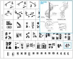 Treppe CAD Sammlung