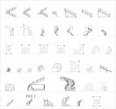Collezione CAD di progettazione di scale 2 dwg