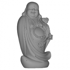 Standing Maitreya Buddha Statue with Big Belly Laughing and his necklace rosary skp