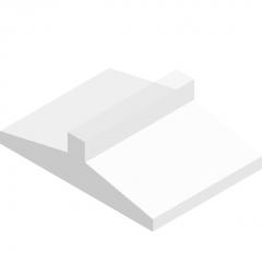 Strip foundation under column-sloped section bottom plate revit family