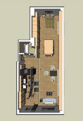 Studio apartment design skp