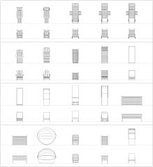 Sun Loungers CAD collection dwg blocks