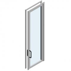 Распашная дверь из алюминиевого сплава одностворчатая стеклянная дверь модель Revit