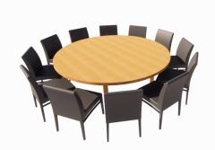 圆桌与12把椅子revit家庭