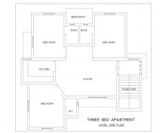 Drei-Bett-Wohnung Design_2 .dwg