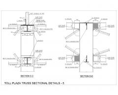 TOLL PLAZA TRUSS SECTIONAL DETAILS - 5.dwg