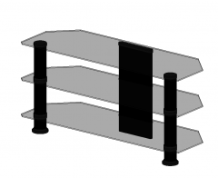 TV Glass stand cabinet revit family