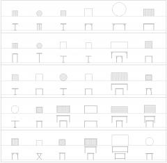 Tablas de colección CAD dwg