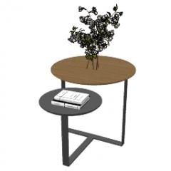 Tisch mit 2 Kreis Tischplatte skp