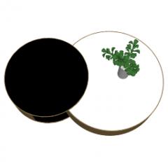 Mesa con un tablero oscuro y un tablero blanco skp