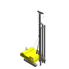 三轴水泥土搅拌桩机revit模型