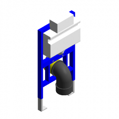 Top-press concealed water tank revit family