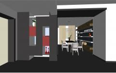 Town house dining room design skp