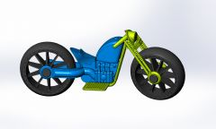 Assembly of toy motorcycle in solid works