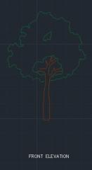 Garden dwg図面のTree10
