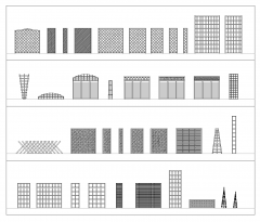 Trellis fence panels CAD collection dwg