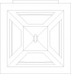 Triangular Porch Light Plan dwg Drawing