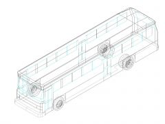 Trucks & Wagon in 3D .dwg_2