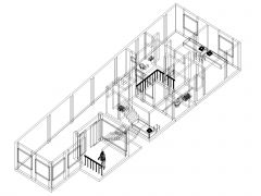 Two Story House 3D View .dwg_1