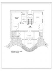UK Private Villa House Design Type 2 Ground Floor Plan .dwg
