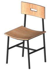 Wooden Chair Revit Family 3