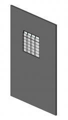 Стеновые панели - непрерывное окно наверху Revit Family