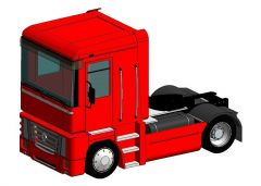Truck Renault Magnum Revit Family
