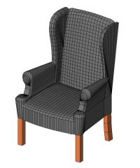 Arm Chair Revit Family 1