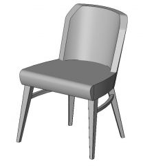Lucia Upright Armless Chair Revit Family
