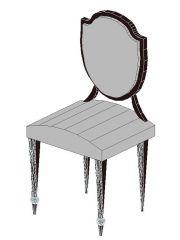 Hepplewhite Shield back Chair Revit Family