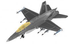 FA18D Hornet-Military Fighter Jet Avión Familia Revit