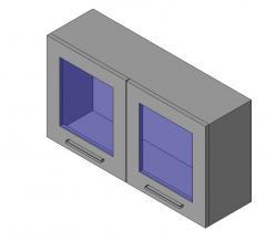 Upper Cabinet - 1 Door with Glass revit family