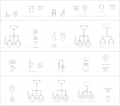 Urinals CAD block collection dwg