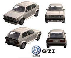 VW Golf GTI MK 1 3D MAX model