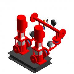 Fire-fighting voltage regulator equipment revit family