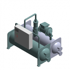 Water Chiller-Water-cooled Screw Type  revit family