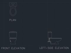 Water Closet for Bathroom 14 dwg Drawing