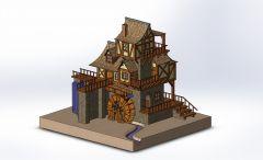 Wassermühle sldasm Modell