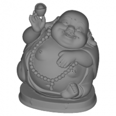 Wealth happy laugh Maitreya Buddha statue with gold block on right hand and rosary necklace skp