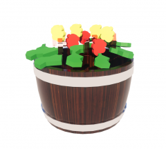 Whiskey_Barrel_with_Flowers revit family
