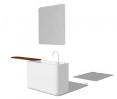 Lavabo de baño de cerámica blanca skp