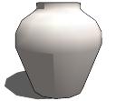 白色陶瓷花瓶skp