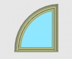 Window Casement Quarter Circle Revit