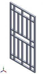 Window Gril Design-11 solidworks