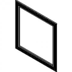 窗饰带肋Revit