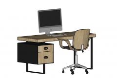 Escritorio y silla de madera skp