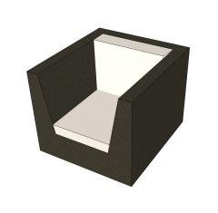 Woven Armchair Sketchup model